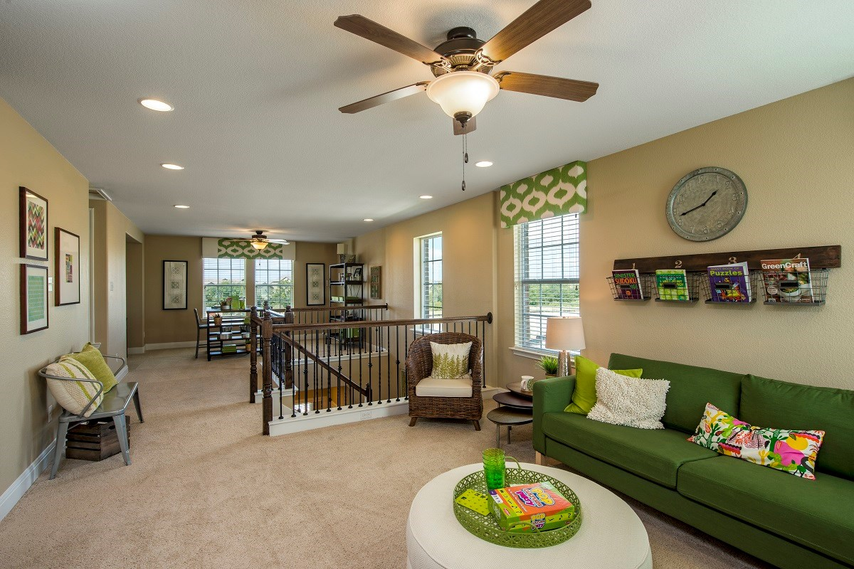 New Homes in Austin, TX - Retreat at Tech Ridge E 2412 Game Room