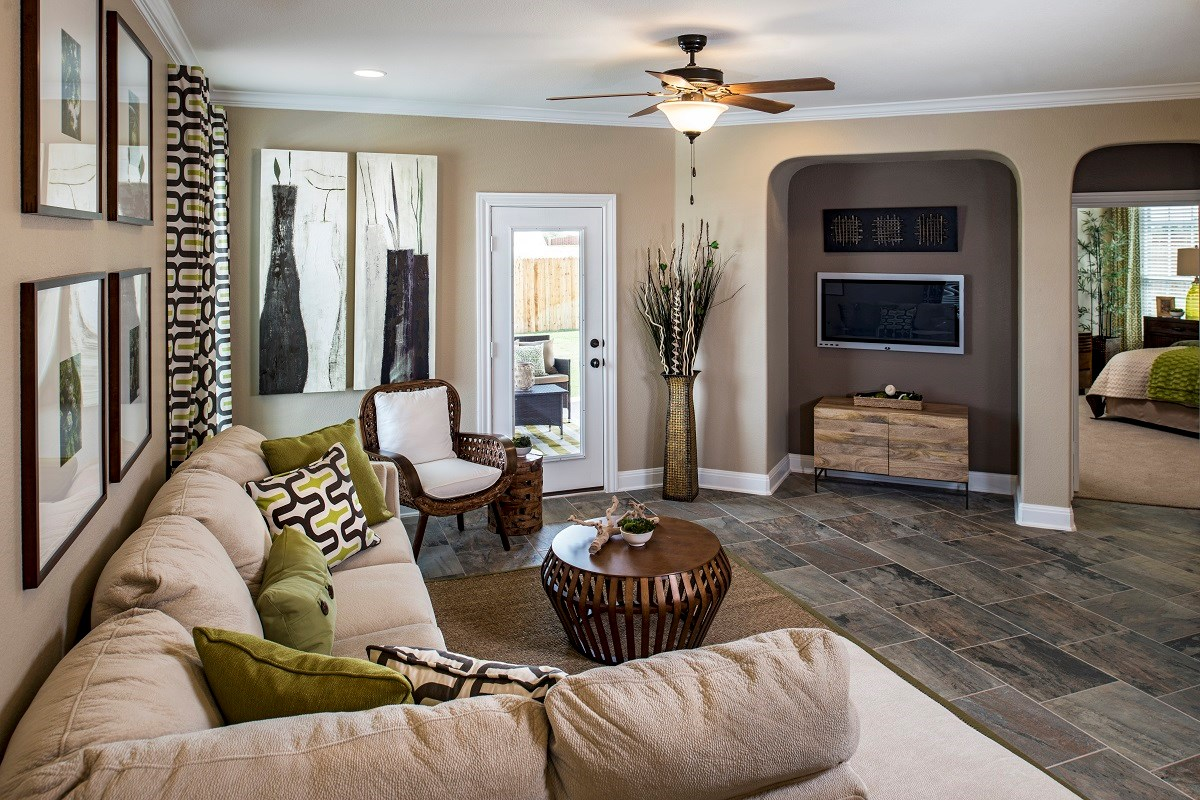 New Homes in Austin, TX - Retreat at Tech Ridge E 2412 Living Area