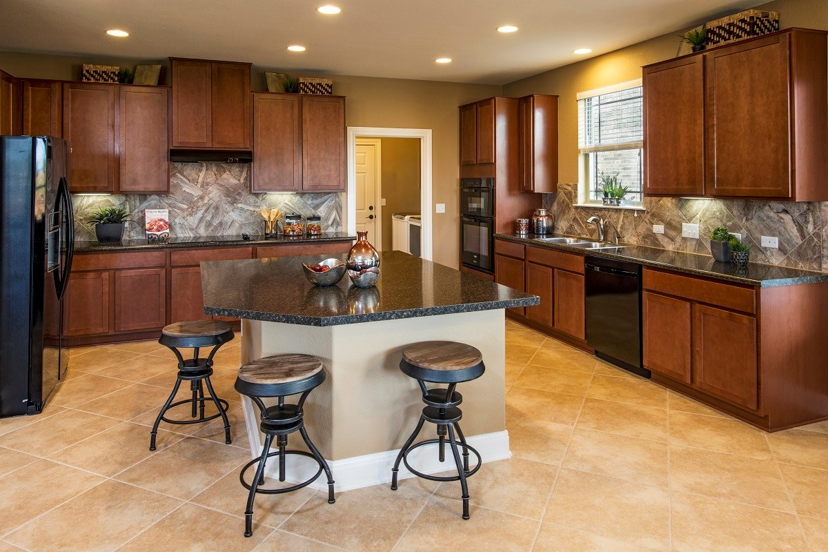 New Homes in Austin, TX - Retreat at Tech Ridge E 2898 Kitchen
