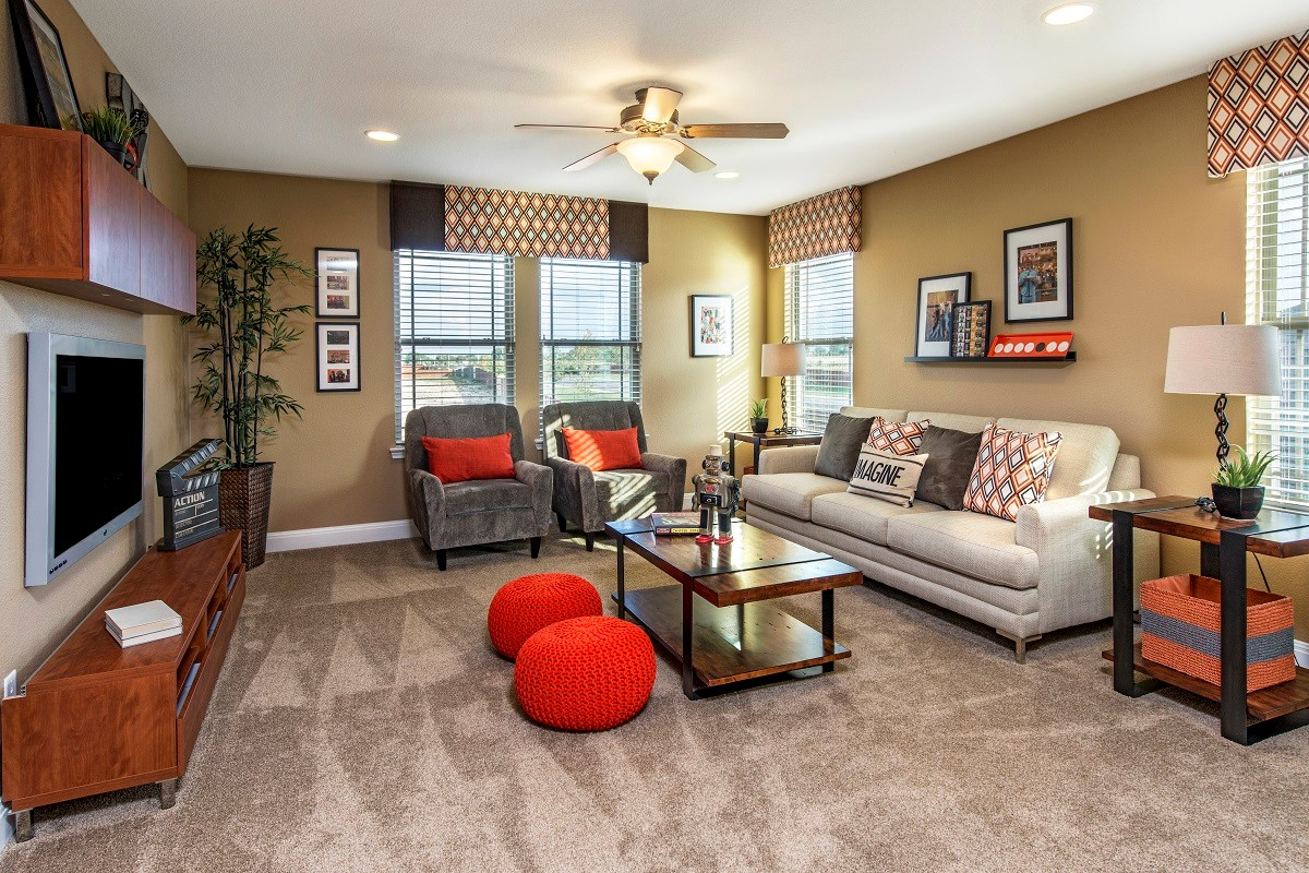 New Homes in Austin, TX - Retreat at Tech Ridge E 2898 Game Room