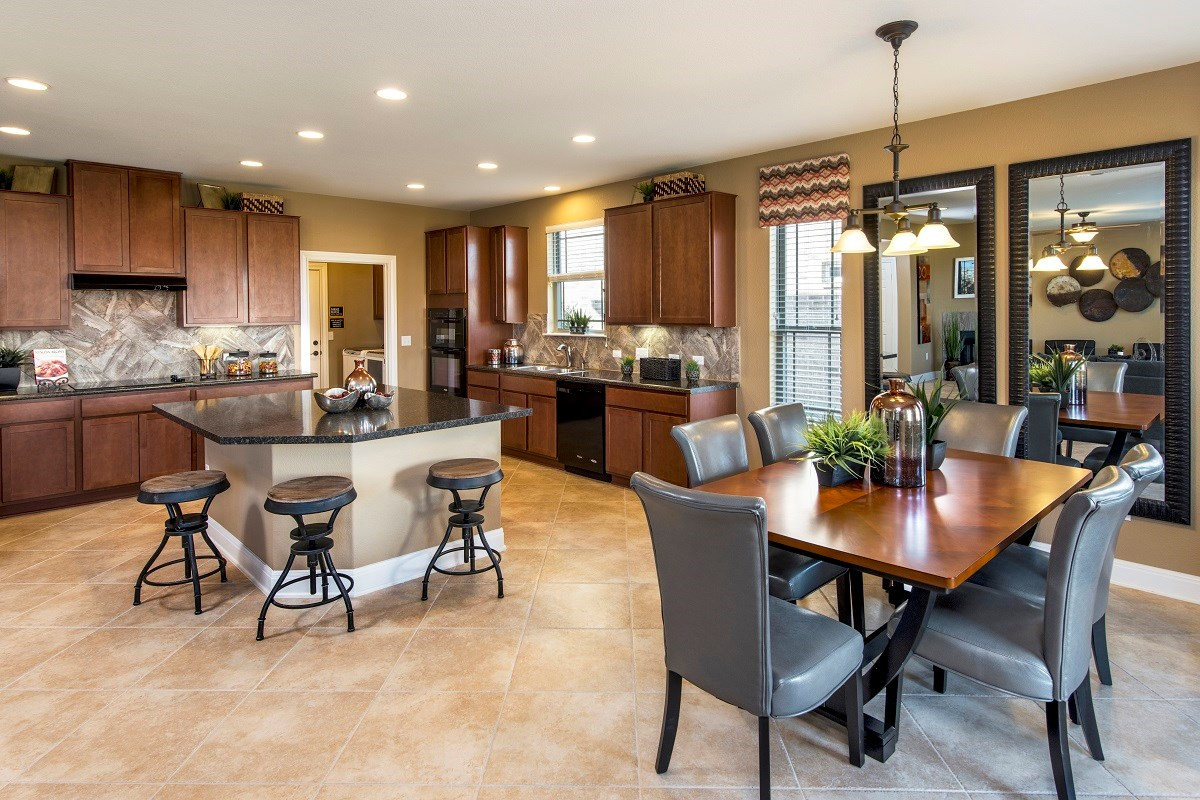 New Homes in Austin, TX - Retreat at Tech Ridge E 2898 Kitchen and Dining Area