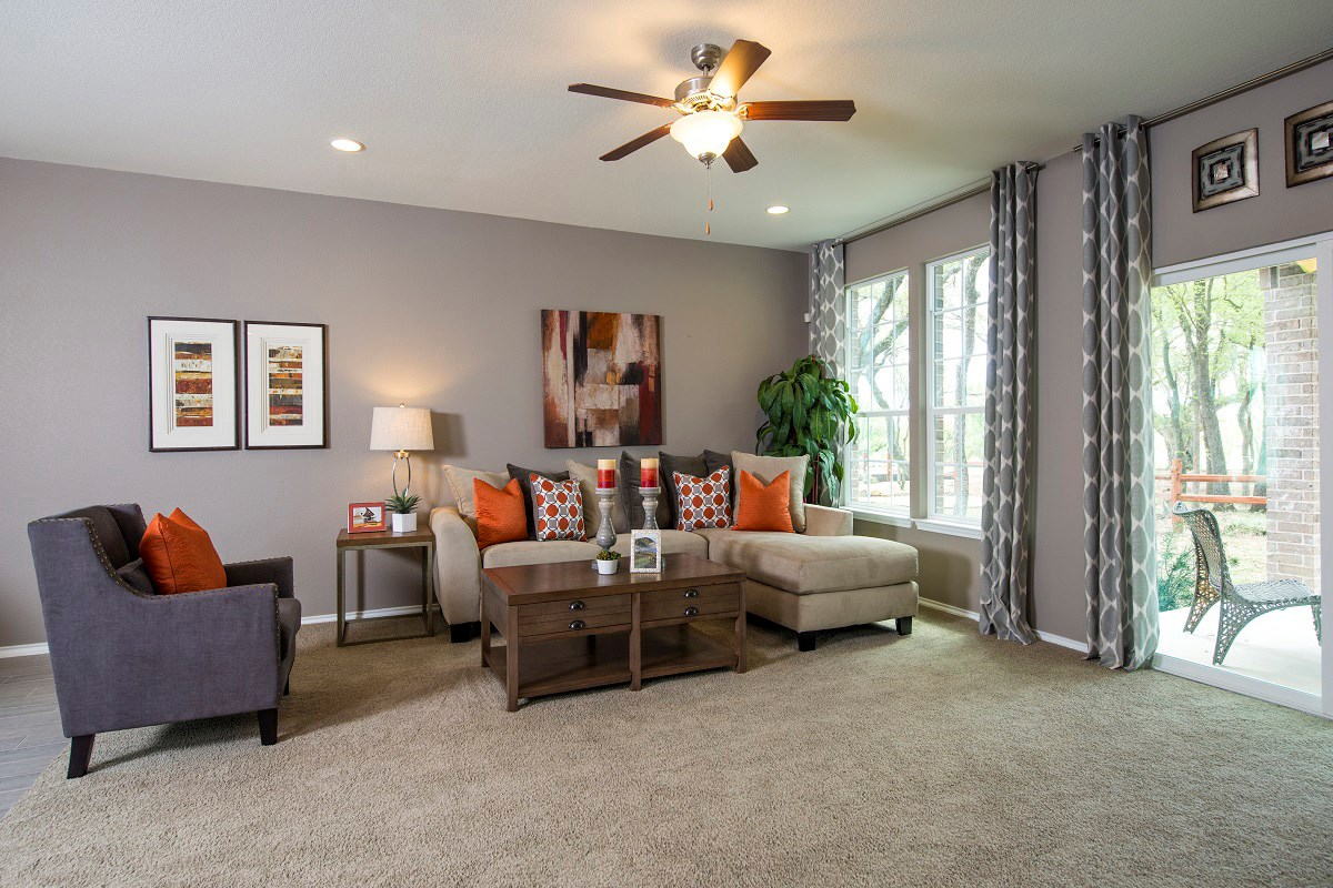 New Homes in San Marcos, TX - Retreat at Willow Creek A 1965 Living Area