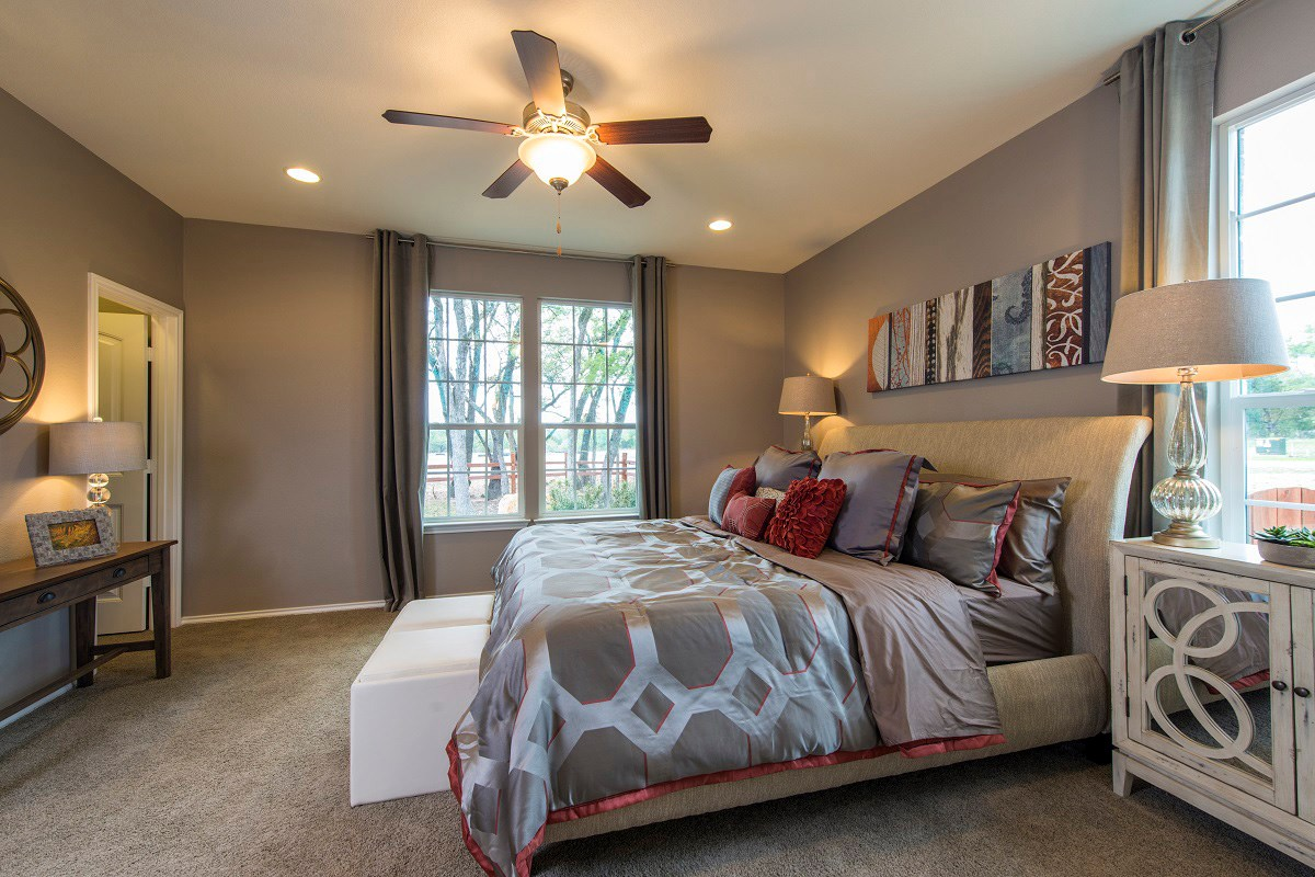 New Homes in San Marcos, TX - Retreat at Willow Creek A 1965 Master Bedroom