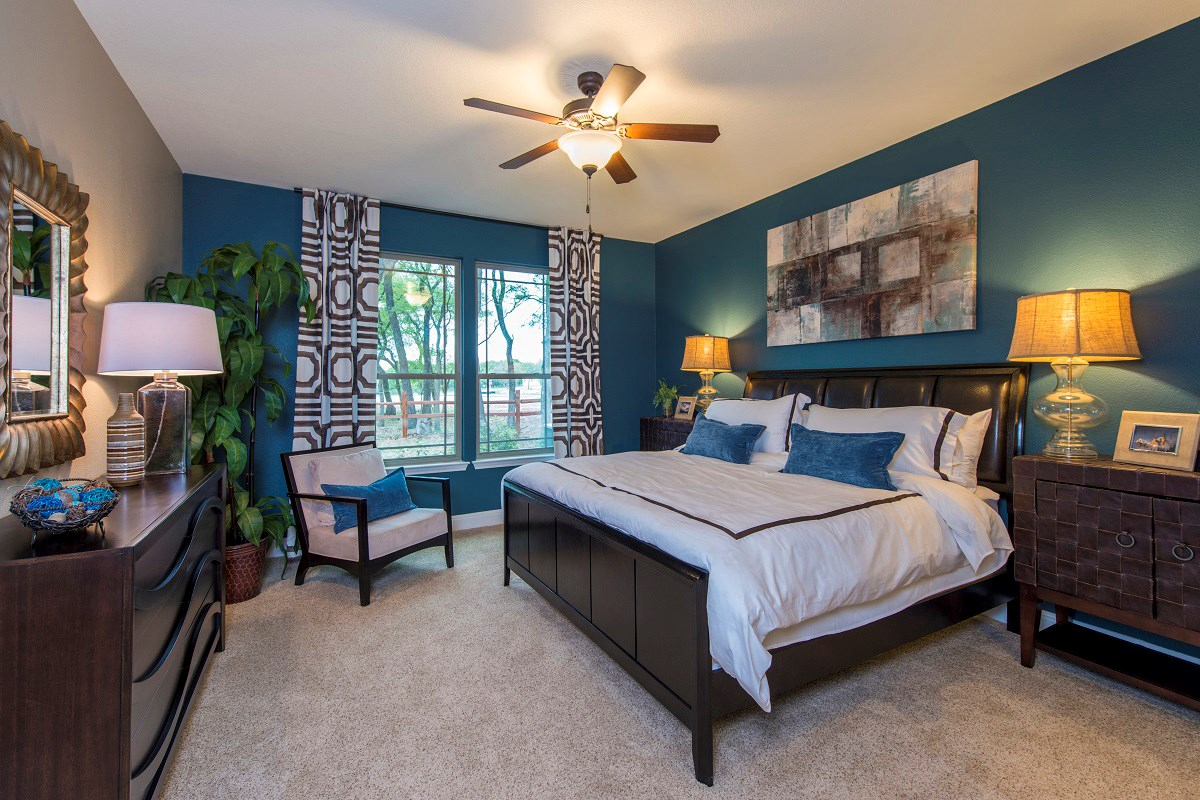 New Homes in Georgetown, TX - Creekside at Georgetown Village Plan A-2502 Master Bedroom