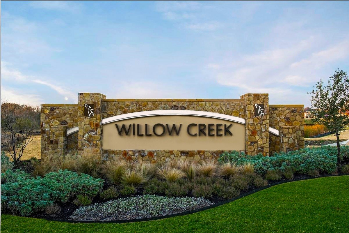 New Homes in San Marcos, TX - Retreat at Willow Creek Community Entrance