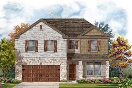 New Homes in Leander, TX - Plan A-2469 C
