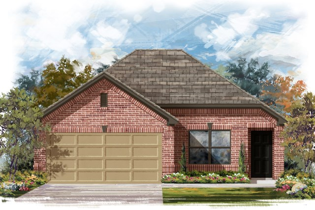 New Homes in Elgin, TX - Plan E-1246 B
