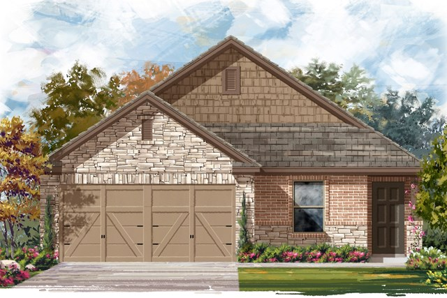 New Homes in Elgin, TX - Plan E-1246 D