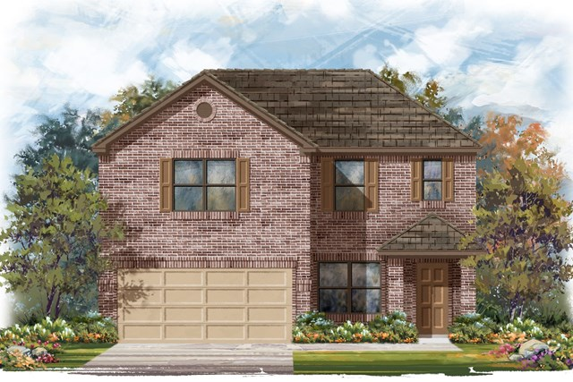 New Homes in Elgin, TX - Plan E-2177 B