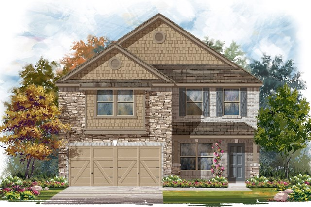 New Homes in Elgin, TX - Plan E-2177 D