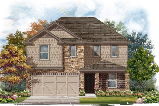 New Homes in Elgin, TX - Plan E-2403 D