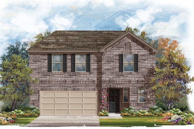 New Homes in Elgin, TX - Plan E-2412 B