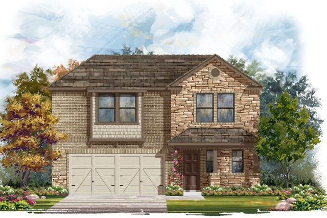 New Homes in Elgin, TX - Plan E-2412 D