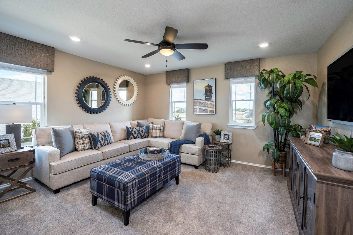 New Homes in Elgin, TX - Saratoga Farms Plan E-2403 Game Room