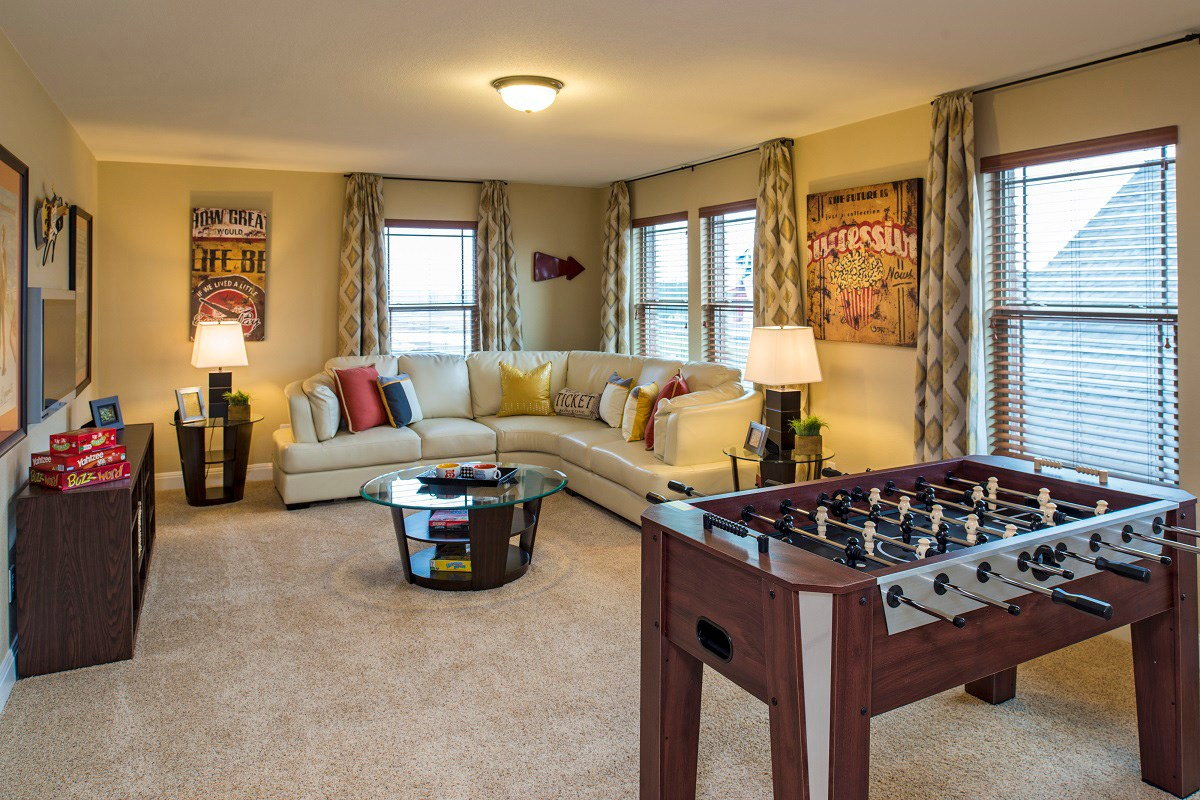 New Homes in Georgetown, TX - Creekside at Georgetown Village Plan A-2797 Game Room