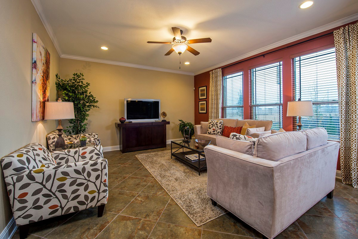 New Homes in Round Rock, TX - Siena in Round Rock 2797 Family Room