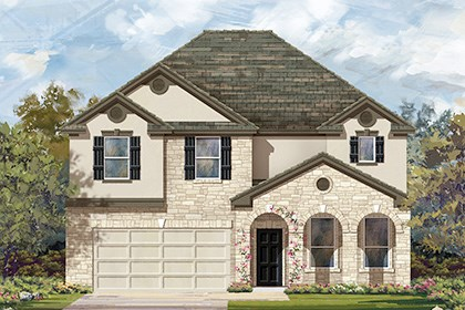 New Homes in Round Rock, TX - Plan A-3125-D