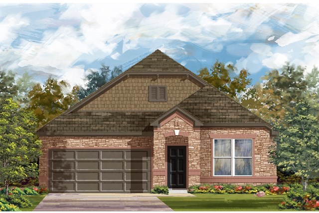 New Homes in Round Rock, TX - Plan A-1491 C