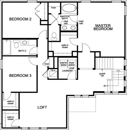 New Homes in Round Rock, TX - Plan A-2183, Second Floor