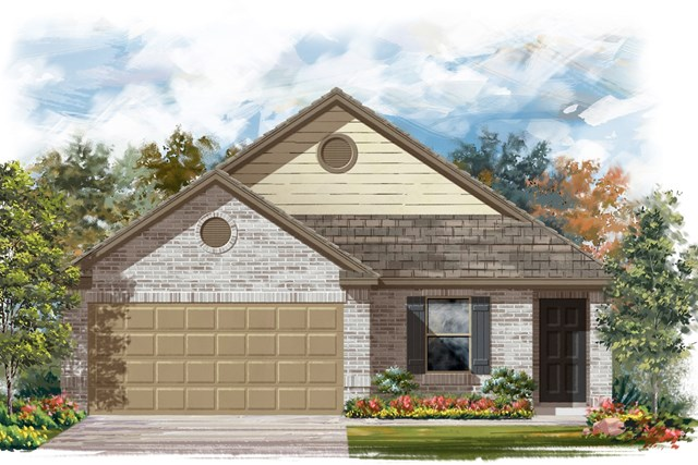 New Homes in Jarrell, TX - Plan E-1246 I