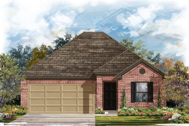 New Homes in Jarrell, TX - Plan E-1591 H