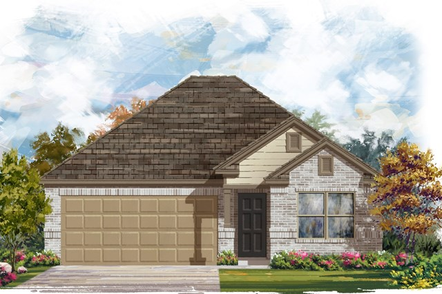 New Homes in Jarrell, TX - Plan E-1591 I