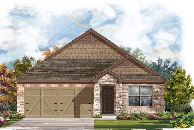 New Homes in Jarrell, TX - Plan E-1591 J