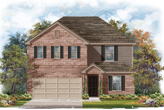 New Homes in Jarrell, TX - Plan E-2403 H