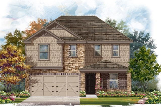 New Homes in Jarrell, TX - Plan E-2403 J