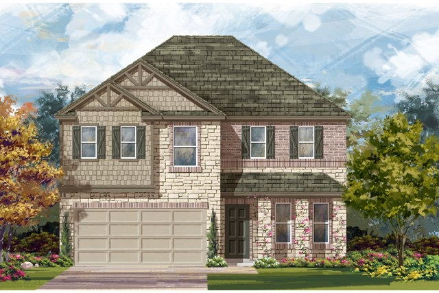 New Homes in Jarrell, TX - Plan E-2898 J
