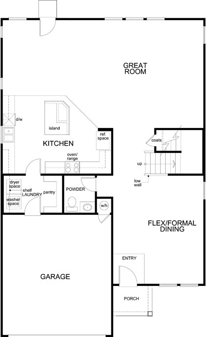 New Homes in Jarrell, TX - Plan 2898, First Floor