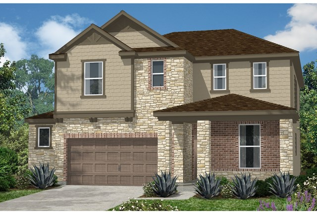 New Homes in Kyle, TX - Plan E-2403 J