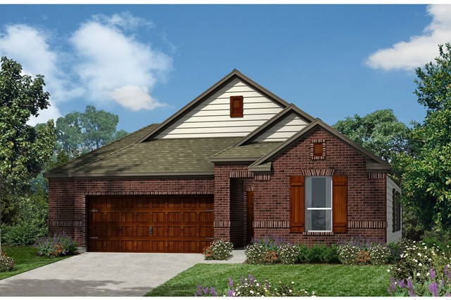 New Homes in Kyle, TX - Plan A-1491 B