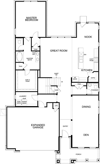 New Homes in Kyle, TX - Plan A-3023, First Floor