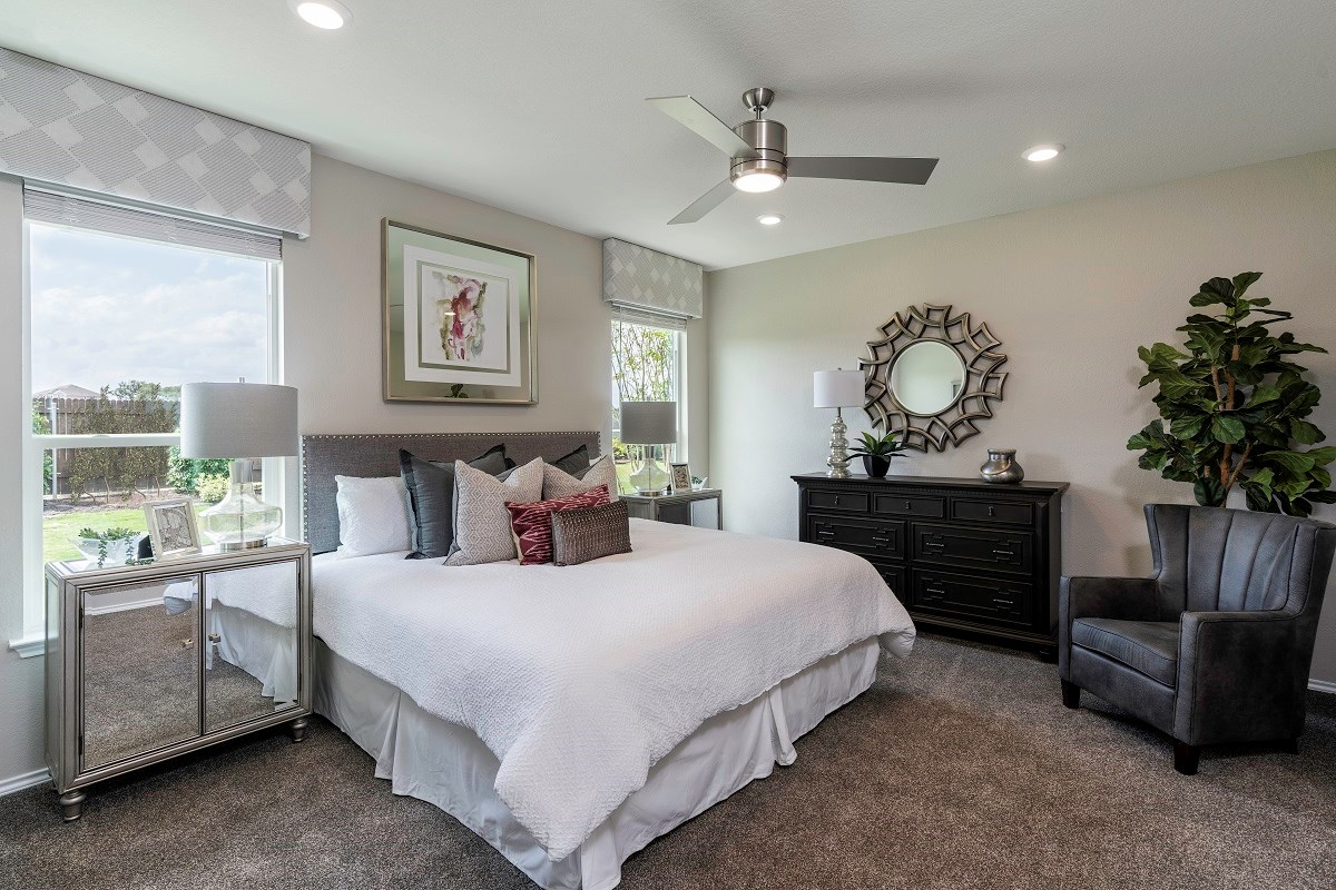 New Homes in Kyle, TX - Stagecoach Crossing Plan A-1491 Master Bedroom