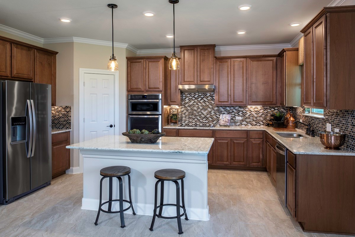 New Homes in Kyle, TX - Stagecoach Crossing Plan A-2655 Kitchen