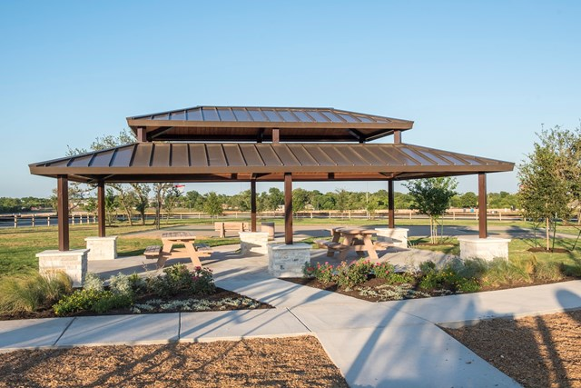 Amenity park at a KB Home community in Kyle, TX