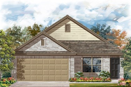 New Homes in Del Valle, TX - Plan E-1516 C