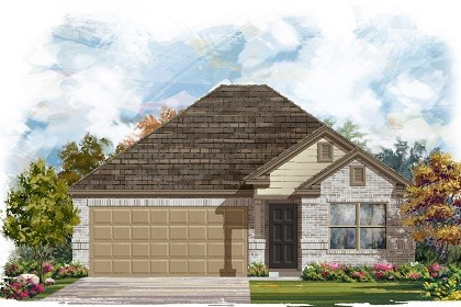 New Homes in Del Valle, TX - Plan E-1591 C