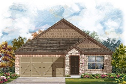 New Homes in Del Valle, TX - Plan E-1591 D