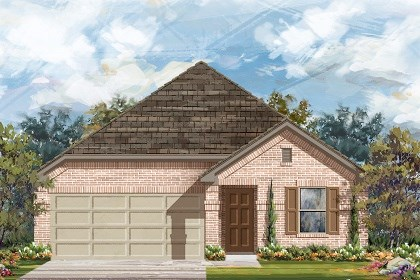 New Homes in Del Valle, TX - Plan E-1647 B