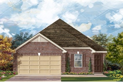 New Homes in Del Valle, TX - Plan E-1892 B
