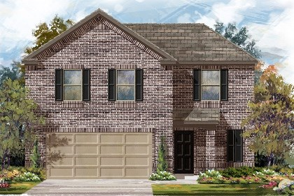 New Homes in Del Valle, TX - Plan E-1895 B