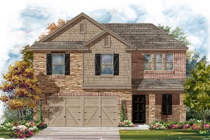 New Homes in Del Valle, TX - Plan E-1895 D