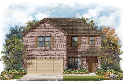 New Homes in Del Valle, TX - Plan E-2177 B