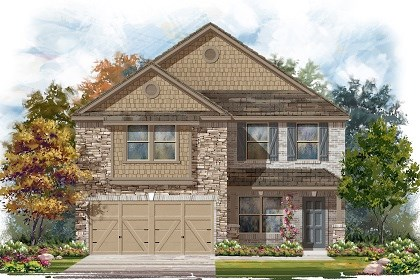 New Homes in Del Valle, TX - Plan E-2177 D