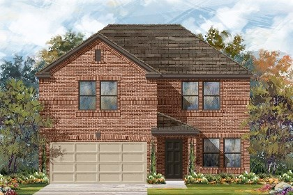 New Homes in Del Valle, TX - Plan E-2561 B
