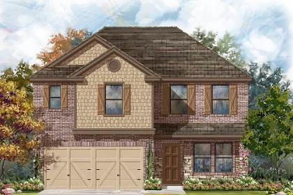 New Homes in Del Valle, TX - Plan E-2561 D