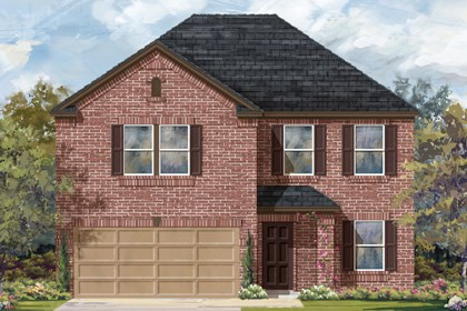 New Homes in Del Valle, TX - Plan E-2898 B