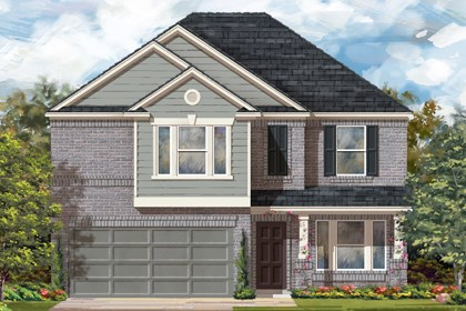 New Homes in Del Valle, TX - Plan E-2898 C